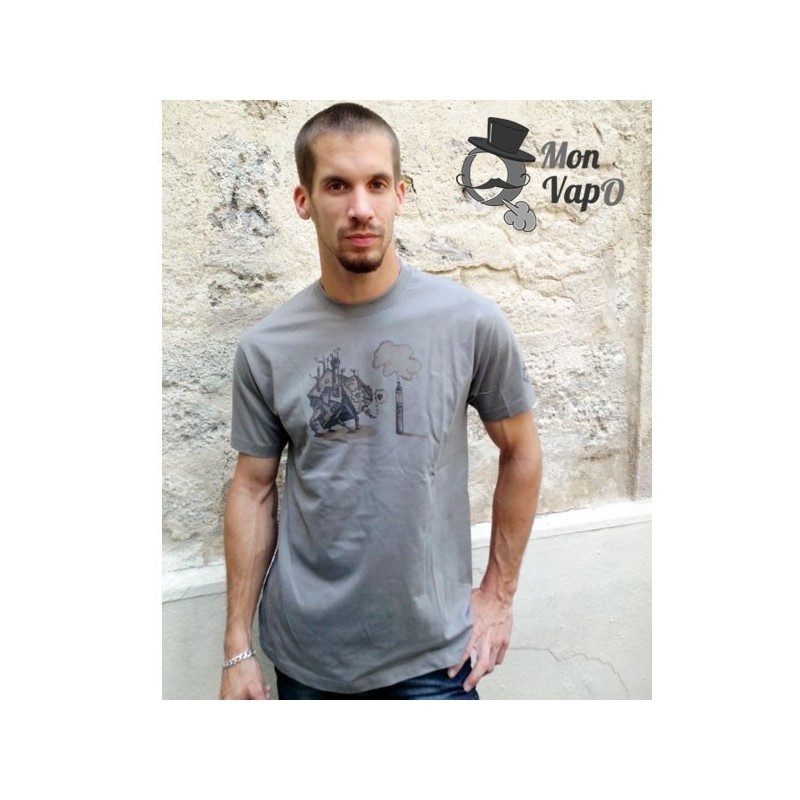 T-Shirt Vape - VapO LOve - couleur gris