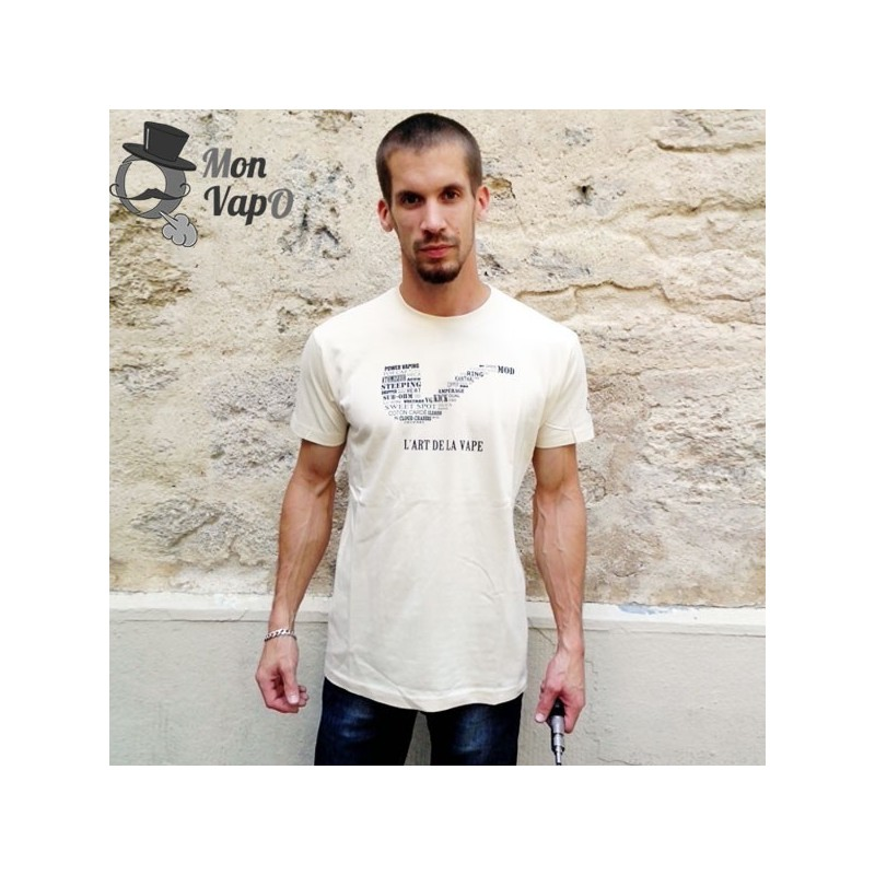 T-Shirt Vape - L'Art de la Vape - couleur creme - face