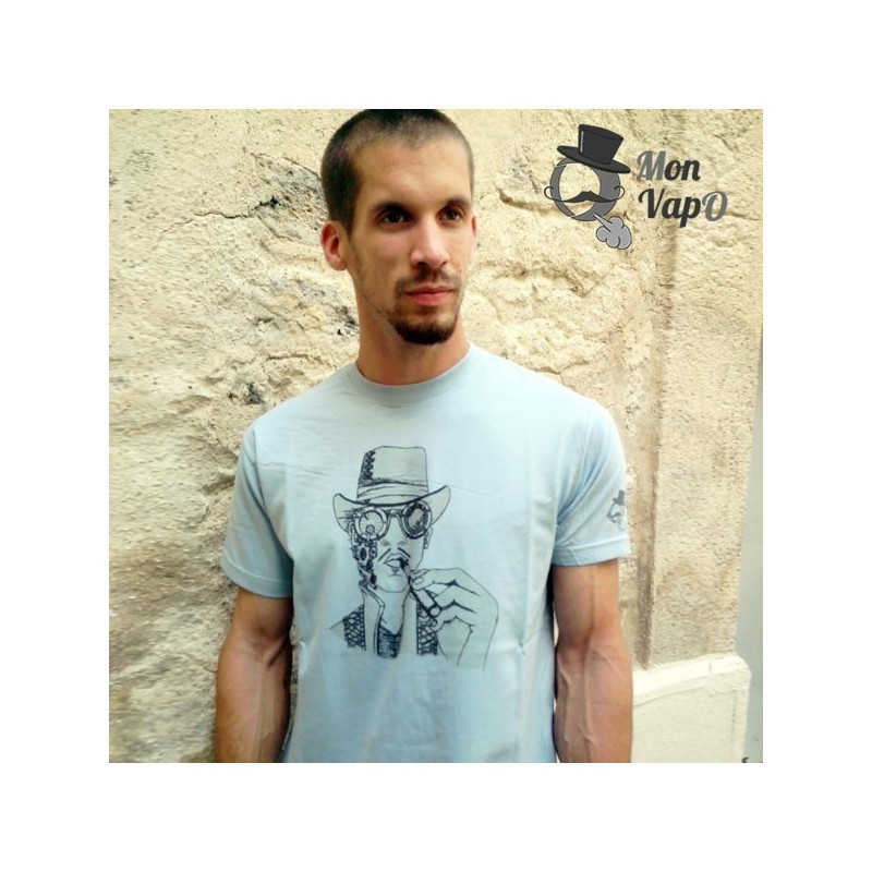 T-Shirt Vape - SteamVape - zoom couleur bleu