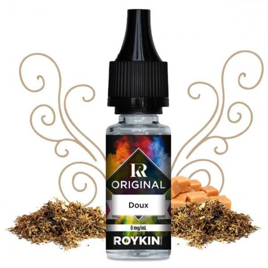 Flacon Tabac Doux - Liquide Roykin goût tabac
