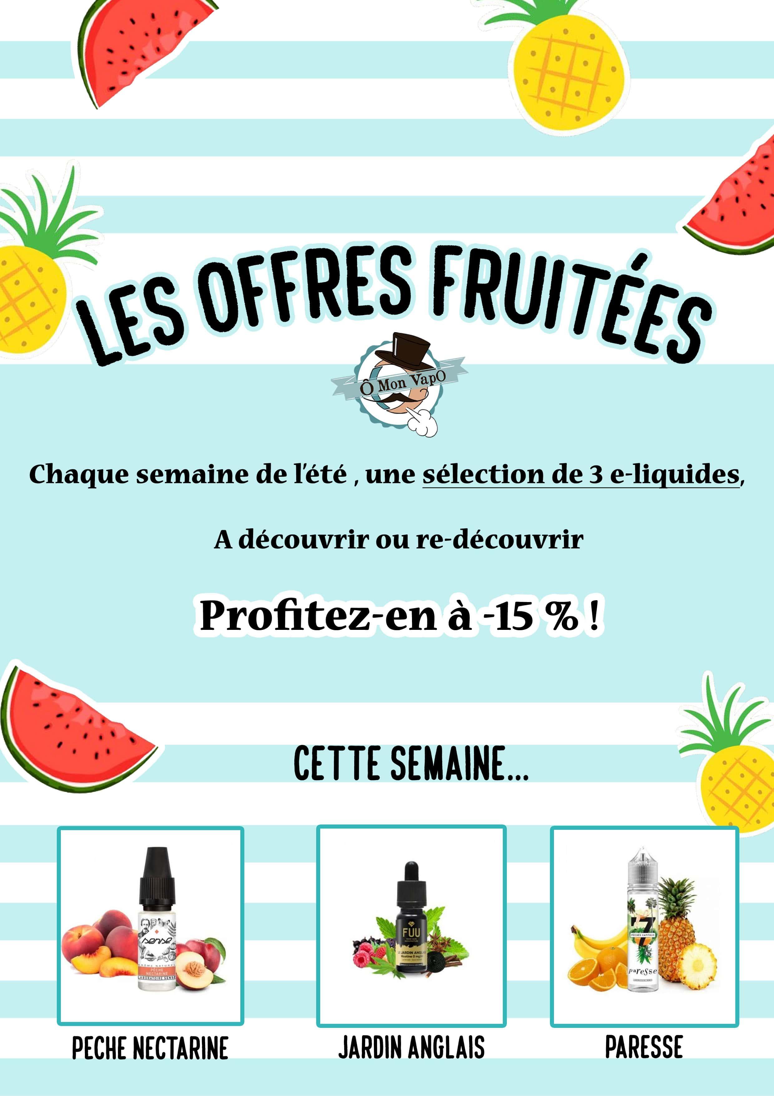 offre e-liquides fruités