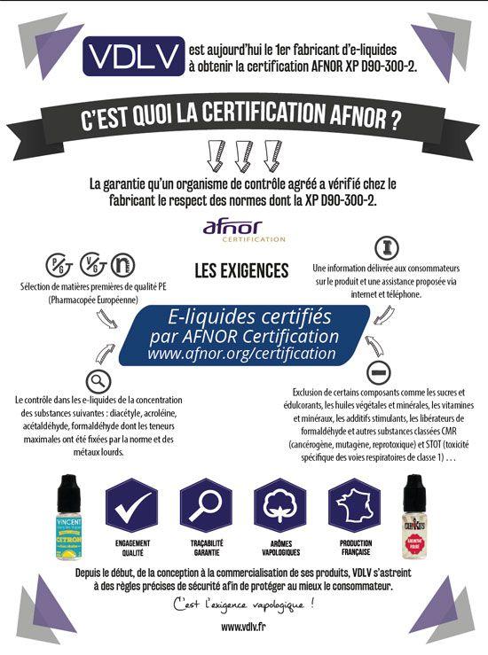 e-liquide normé AFNOR